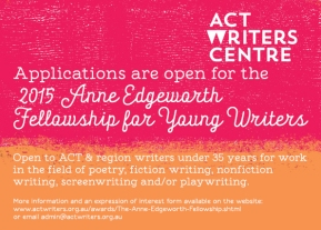Now Open: 2015 Anne Edgeworth Fellowship for Young Writers