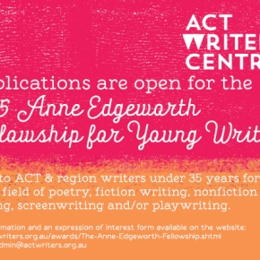 Now Open: 2015 Anne Edgeworth Fellowship for YoungWriters
